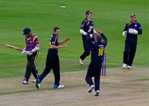 Barber first wicket