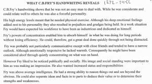 CB Fry's handwriting 2