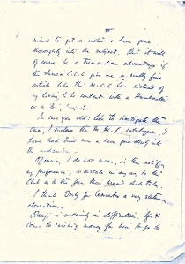 CB Fry's handwriting sample