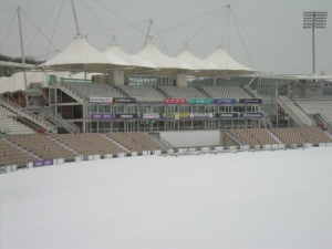 Ageas Bowl snow