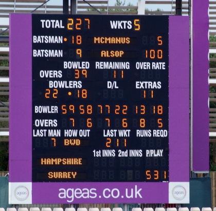 Alsop scoreboard