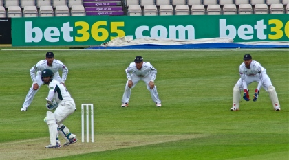 A. James Vince keeps wicket v Worcestershire